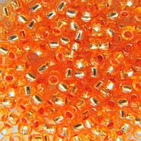 Чешский бисер для рукоделия Preciosa (Прециоза) оригинал 50г 33119-08289-10 Оранжевый