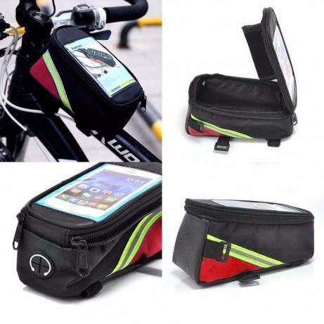 АКЦИЯ вело сумка на раму с окном как roswheel 3 цвета угла велосумка