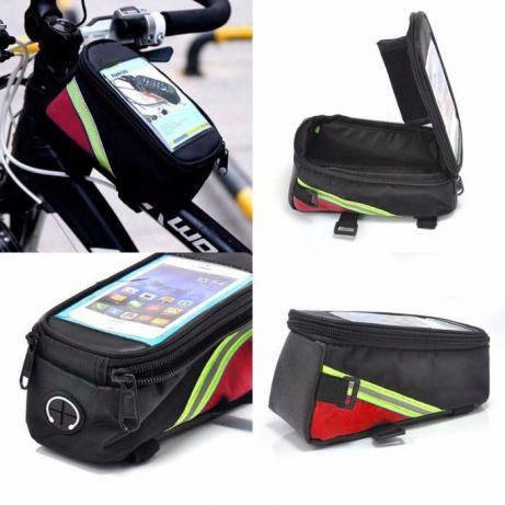 АКЦИЯ вело сумка на раму с окном как roswheel 3 цвета угла велосумка, фото 2