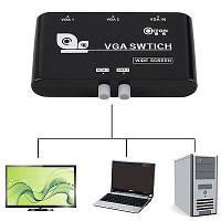 VGA свитч переключатель на 2 монитора коммутатор 2-1 сплиттер switch