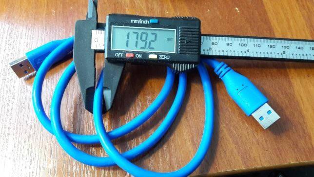 USB 3.0 кабель 1 м для райзера (выбор 30 см 60 см ,1, 1.5 м) папа-папа, фото 2