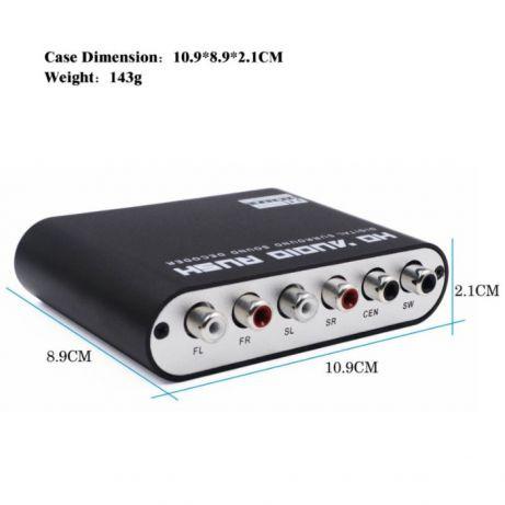 Конвертер аудио оптический оптика на 5+1 RCA в аналог звук декодер DTS