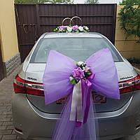 Бант на багажник свадебной машины