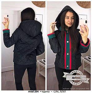 Куртка стеганая плащевка на силиконе с капюшоном, фото 2