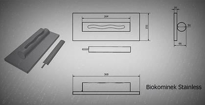 Биокамин GLOBMETAL c нержавеющей стали, черный Stainles, фото 3