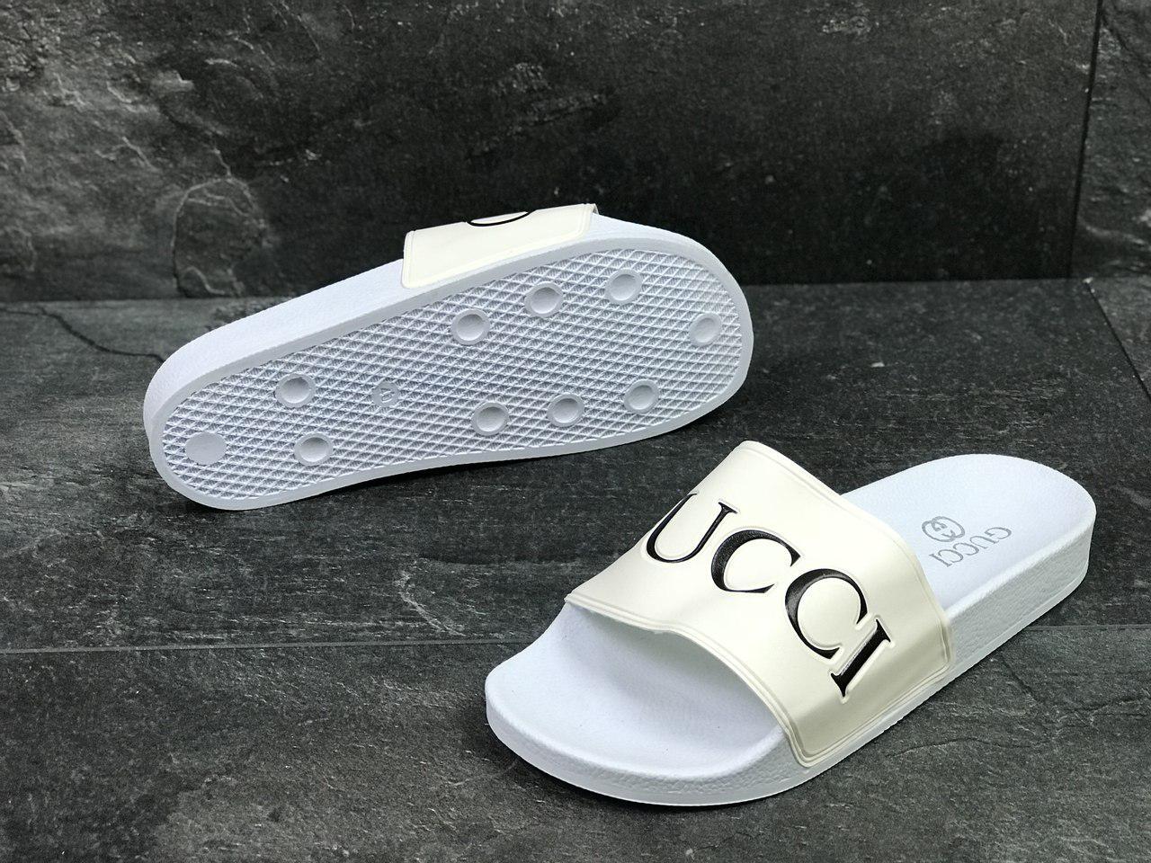 a129c11b Шлепки Мужские Белые Gucci 5443 — в Категории