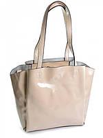 Женская сумка из лаковой кожи 810-1 белая