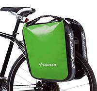 Велосумка Crosso DRY BIG 60L CLICK Adventure Зелёная (Велобаул, Велорюкзак на багажник) (CO1009CA-green)