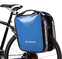 Велосумка Crosso DRY BIG 60L CLICK Adventure Синяя (Велобаул, Велорюкзак на багажник) (CO1009CA-blue), фото 1