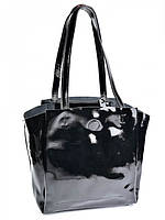 Женская сумка из лаковой кожи 810-1 черная, фото 1