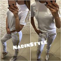 Костюм GG футболка и штаны с полосками люрекса, фото 2