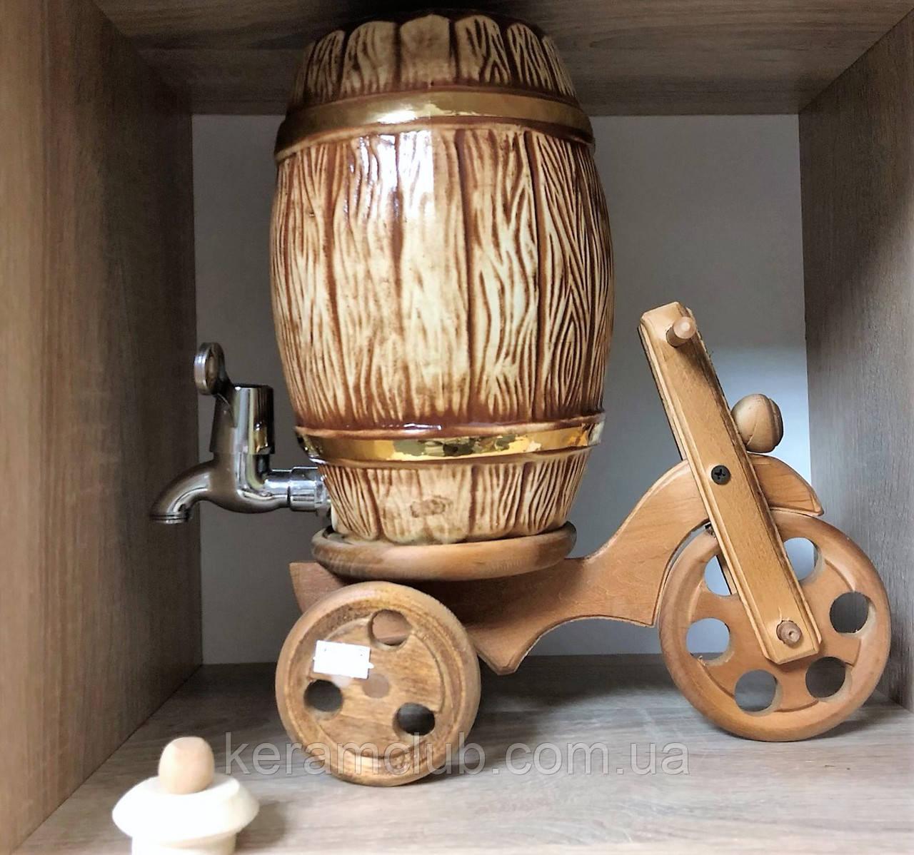 Керамический бочонок велосипед