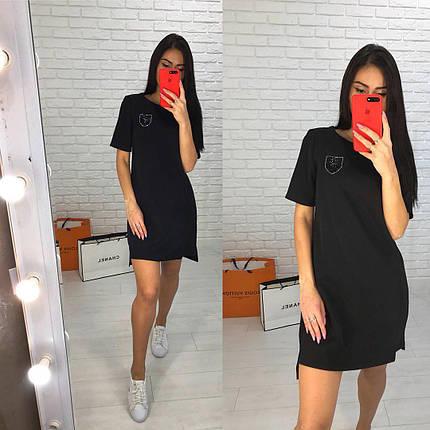 Платье свободное с украшением сзади удлинённое люкс, фото 2