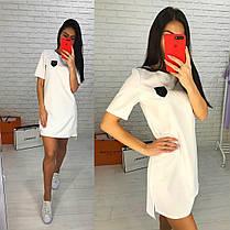 Платье свободное с украшением сзади удлинённое люкс, фото 3