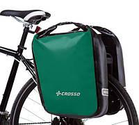 Велосумка Crosso DRY BIG 60L CLICK Зелёная (Велобаул, Велорюкзак на багажник) (CO1009C-green), фото 1