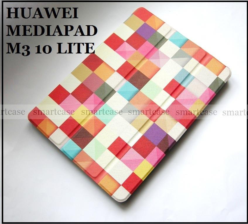 Кольорові кубики чохол книжка Huawei Mediapad M3 10 lite BAH-L09 BAH-W09, модель TFC Color Blocks