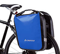 Велосумка Crosso DRY BIG 60L CLICK Синяя (Велобаул, Велорюкзак на багажник) (CO1009C-blue)