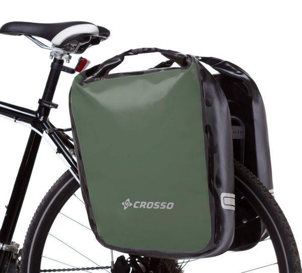 Велосумка Crosso DRY BIG 60L CLICK Хаки (Велобаул, Велорюкзак на багажник) (CO1009C-haki), фото 1