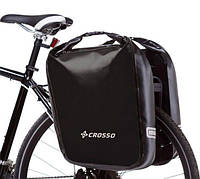 Велосумка Crosso DRY BIG 60L CLICK Чёрная (Велобаул, Велорюкзак на багажник) (CO1009C-black), фото 1