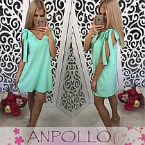 Платье свободное летнее на бретелях завязках, фото 2