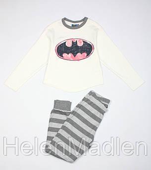 Пижама Original Marines Batman бело-серая 128 см ARIV5771F2