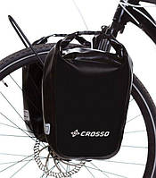 Велосумка Crosso DRY SMALL 30 L CLICK Чёрная (Велобаул, Велорюкзак на багажник) (CO1010C-black), фото 1