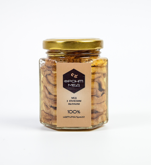 Мёд с вялеными яблоками