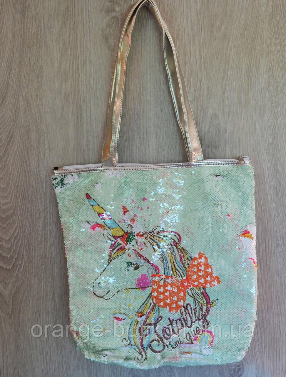 421aabecb8d4 Стильная летняя городская, пляжная сумка с пайетками и принтом единорога,  ассортимент цветов - Интернет
