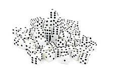 Кости игральные для игр (пластик, р-р 1,5x1,5см, цена за 1 шт, в уп.100 шт.)