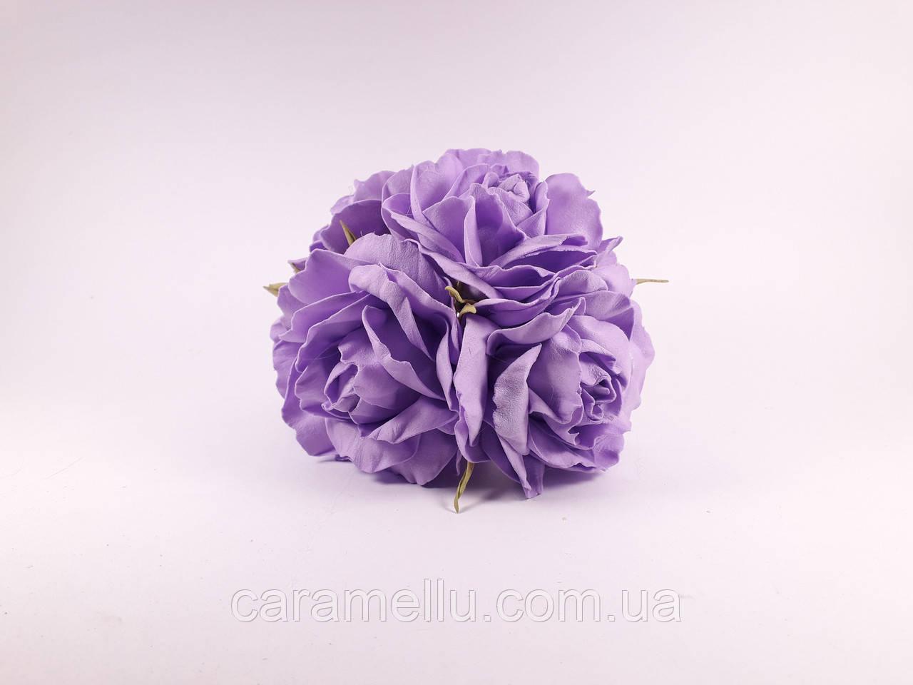 Букет роз из фоамирана(латекса). Цвет сиреневый