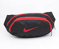 Сумка на пояс, бананка Nike 712-15 черная с красным