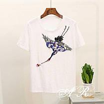 Костюм шорты и футболка с накаткой журавель, фото 2