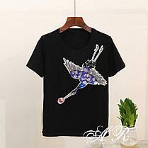 Костюм шорты и футболка с накаткой журавель, фото 3