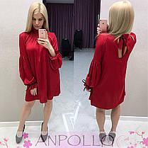 Платье свободное с поясом завязки на рукавах и сзади, фото 3