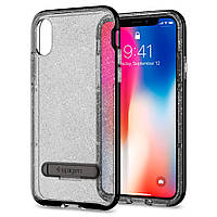 Чехол Spigen для iPhone X Crystal Hybrid Glitter, Space Quartz (057CS22148), фото 1