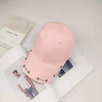 Женская кепка с цепочкой розовая