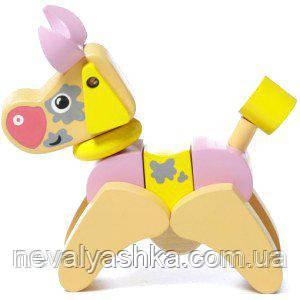Деревянная игрушка Cubika Коровка Кубика Дергунчик, LA-4, 004804