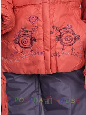Детский зимний комбинезон для девочки  3-4 лет  Palhare с варежками, фото 2