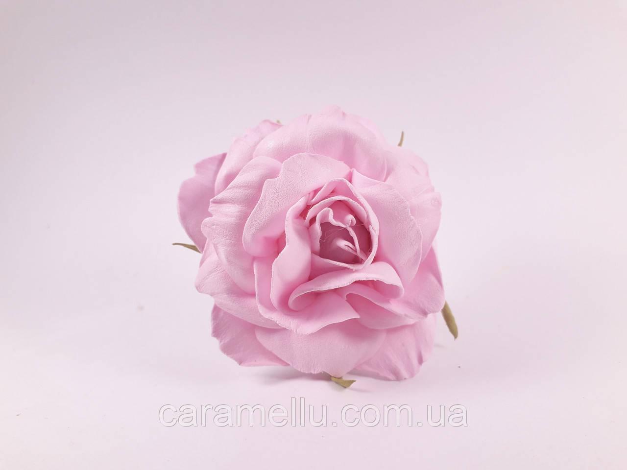 Роза искусственная из фоамирана(латекса). Цвет розовый.