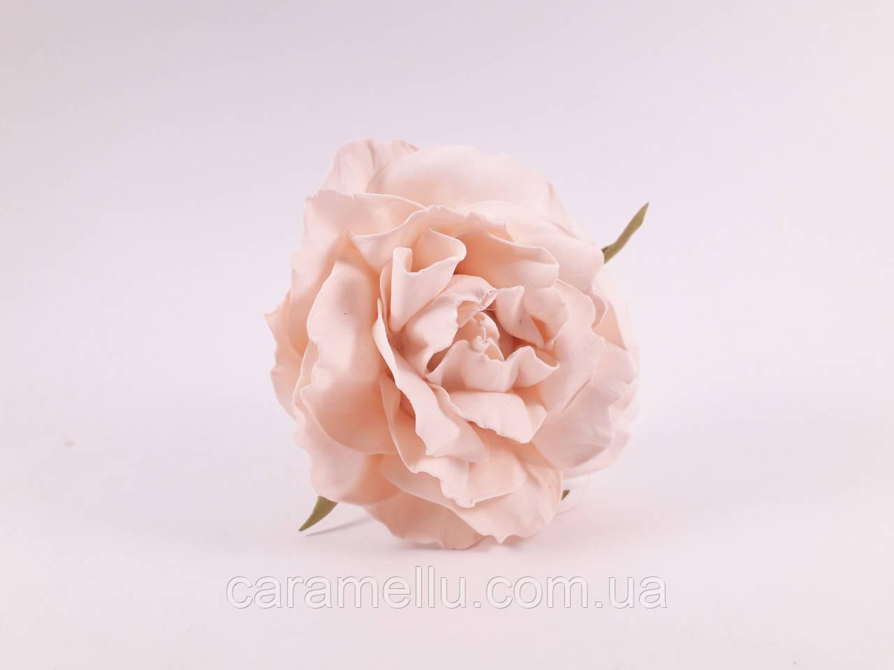Роза искусственная из фоамирана(латекса). Цвет персиковый.