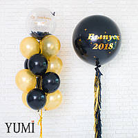 Оформление из воздушных шаров на школьный праздник