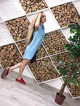 Платье рубашка свободный силуэт без рукава, фото 3