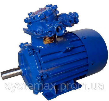 Взрывозащищенный электродвигатель АИМ 90LA2 (АИММ 90LA2) 1,5 кВт 3000 об/мин, фото 2