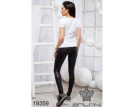 Белая классическая футболка женская, фото 3