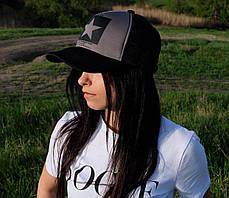 Женская кепка с логотипом звезда сзади сетка, фото 2