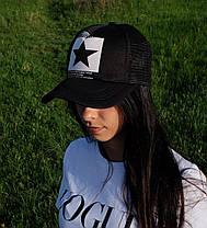 Женская кепка с логотипом звезда сзади сетка, фото 3
