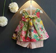 Костюм (топ + шорты) June Kids рост 116 см Разноцветный с розовым (06036/01, фото 1
