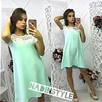 Платье свободное верх кружево под пояс, фото 3