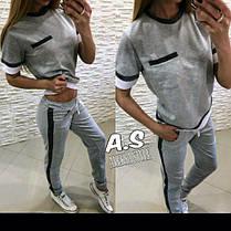 Костюм с кармашком штаны и футболка со вставками из люрекса, фото 3