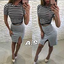Костюм полосатый топ морячка и юбка с разрезом, фото 3